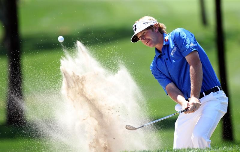 PALM HARBOR, FL - MARCH 20:  Brandt Snedecker plays a shot on the 1st hole during the final round of the Transitions Championship at Innisbrook Resort and Golf Club on March 20, 2011 in Palm Harbor, Florida.  (Photo by Sam Greenwood/Getty Images)