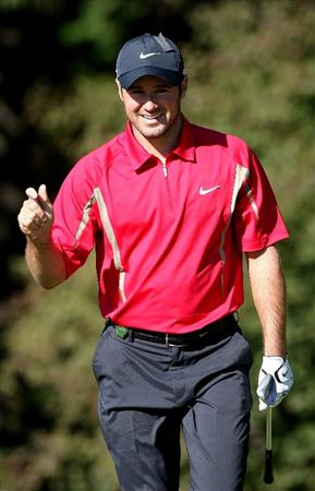 GOTENBA, JAPAN - NOVEMBER 14:  Trevor Immelman of South Africa reacts to a putt on the 1st green during the second round of Mitsui Sumitomo Visa Taiheiyo Masters at Taiheiyo Club on November 14, 2008 in Gotenba, Shizuoka, Japan.  (Photo by Koichi Kamoshida/Getty Images)