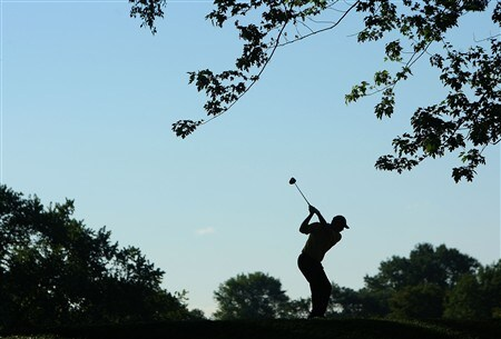 BLOOMFIELD HILLS, MI - AUGUST 08:  Tom Lehman plays a shot on the 12th hole during round two of the 90th PGA Championship at Oakland Hills Country Club on August 8, 2008 in Bloomfield Township, Michigan.  (Photo by Stuart Franklin/Getty Images)