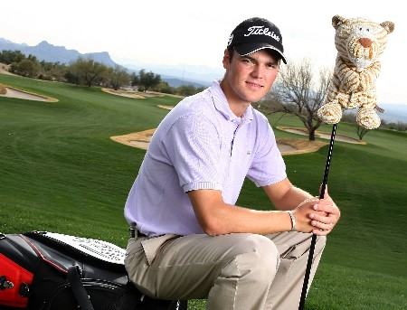 MARANA, AZ - FEBRUARY 18:  Martin Kaymer of Germany poses for a portrait prior to the start of the Accenture Match Play Championship at The Gallery Golf Club at Dove Mountain on February 18, 2008 in Marana, Arizona.  (Photo by Scott Halleran/Getty Images)