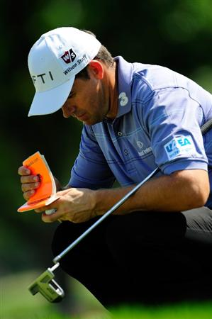 CHASKA, MN - AUGUST 14:  Padraig Harrington of Ireland waits on the seventh green during the second round of the 91st PGA Championship at Hazeltine National Golf Club on August 14, 2009 in Chaska, Minnesota.  (Photo by Sam Greenwood/Getty Images)