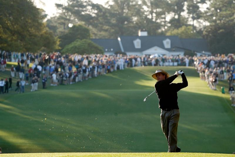 AUGUSTA, GA - APRIL 09:  Briny Baird hits his second shot on the first hole during the first round of the 2009 Masters Tournament at Augusta National Golf Club on April 9, 2009 in Augusta, Georgia.  (Photo by Jamie Squire/Getty Images)