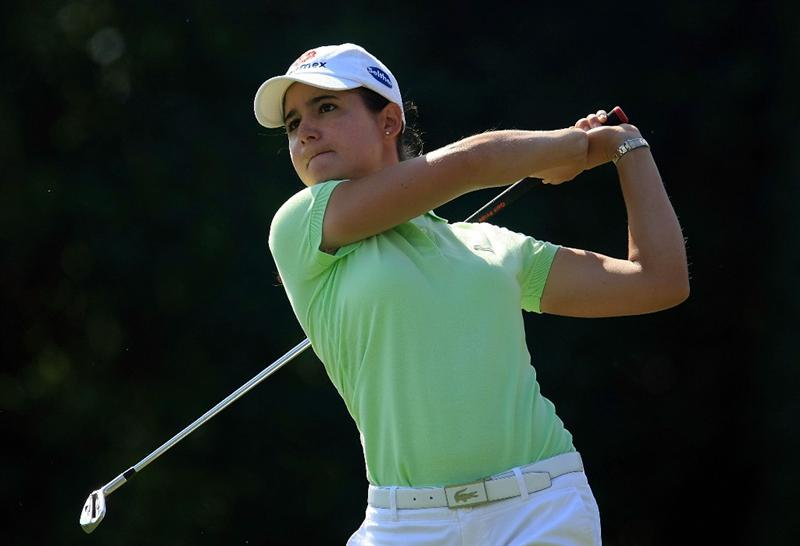 WEST PALM BEACH, FL - NOVEMBER 21:  Lorena Ochoa of Mexico hits her tee shot on the seventh hole during the second round of the ADT Championship at the Trump International Golf Club on November 21, 2008 in West Palm Beach, Florida.  (Photo by Scott Halleran/Getty Images)