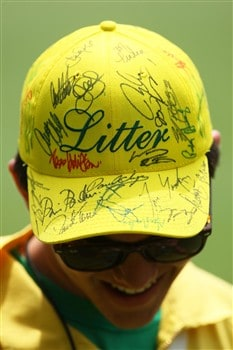 AUGUSTA, GA - APRIL 10:  A member of the litter crew smiles during the first round of the 2008 Masters Tournament at Augusta National Golf Club on April 10, 2008 in Augusta, Georgia.  (Photo by Andrew Redington/Getty Images)