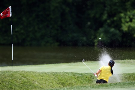 EDINA, MN - JUNE 29:  Jeong Jang of South Korea plays her second shot at the fourth hole during the final round of the 2008 U.S. Women's Open Championship held at the Interlachen Country Club June 29, 2008 in Edina, Minnesota.  (Photo by David Cannon/Getty Images)