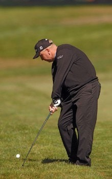 Billy Mayfair hitting from the fifth fairway during the third round of The World Golf Championships 2005 American Express Championship at Harding Park Golf Club in San Francisco, California on October 8, 2005.Photo by Steve Grayson/WireImage.com