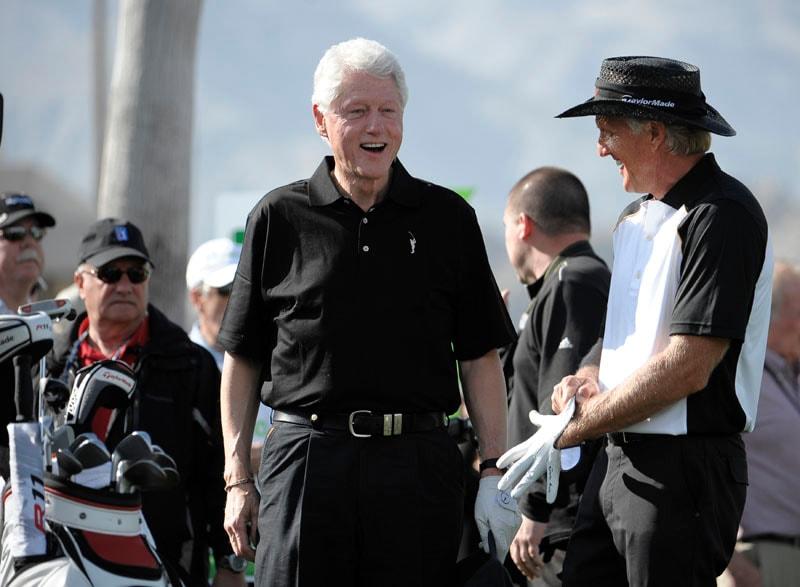 Greg Norman and former President Bill Clinton