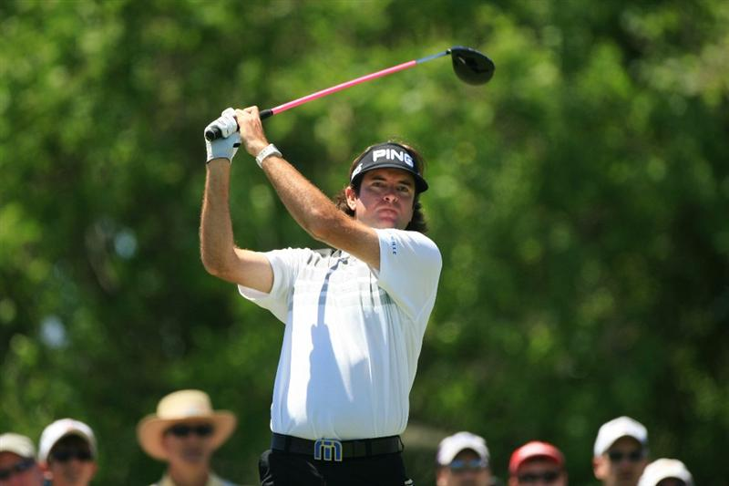 NEW ORLEANS, LA - APRIL 29: Bubba Watson hits his tee shot on the eighth hole during the second round of the Zurich Classic at the TPC Louisiana on April 29, 2011 in New Orleans, Louisiana. (Photo by Hunter Martin/Getty Images)