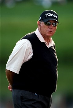 AUGUSTA, GA - APRIL 10:  Butch Harmon points during the first round of the 2008 Masters Tournament at Augusta National Golf Club on April 10, 2008 in Augusta, Georgia.  (Photo by Andrew Redington/Getty Images)