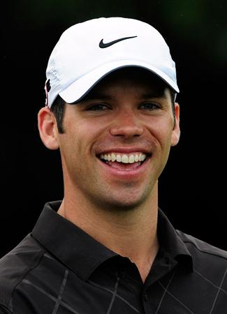 KAPALUA, HI - JANUARY 07:  Paul Casey of England smiles on the 1st hole during the first round of the SBS Championship at the Plantation course on January 7, 2010 in Kapalua, Maui,Hawaii.  (Photo by Sam Greenwood/Getty Images)