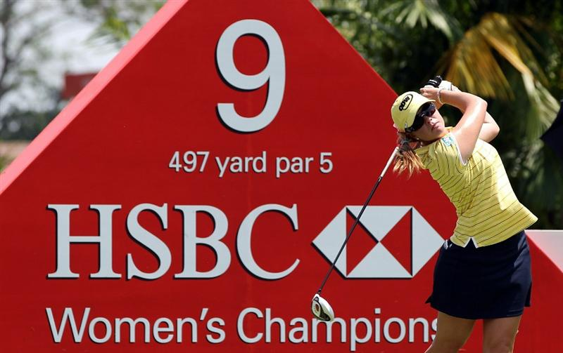 SINGAPORE - FEBRUARY 24:  Paula Creamer of the USA during the first round of the HSBC Women's Champions at Tanah Merah Country Club  on February 24, 2011 in Singapore, Singapore.  (Photo by Ross Kinnaird/Getty Images)