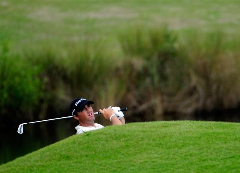 PALM COAST, FL - NOVEMBER 02:  Ryan Palmer plays a shot on the 11th hole during the final round of the Ginn sur Mer Classic at the Conservatory Golf Club on November 2, 2008 in Palm Coast, Florida.  (Photo by Sam Greenwood/Getty Images)