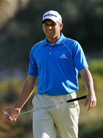 CASTELLON DE LA PLANA, SPAIN - OCTOBER 22:  Sergio Garcia of Spain looks at his putt on the 13th hole during the second round of the Castello Masters Costa Azahar at the Club de Campo del Mediterraneo on October 22, 2010 in Castellon de la Plana, Spain.  (Photo by Stuart Franklin/Getty Images)