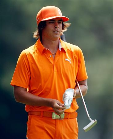 HILTON HEAD ISLAND, SC - APRIL 18:  Rickie Fowler walks to the ninth green during the final round of the Verizon Heritage at the Harbour Town Golf Links on April 18, 2010 in Hilton Head lsland, South Carolina.  (Photo by Scott Halleran/Getty Images)