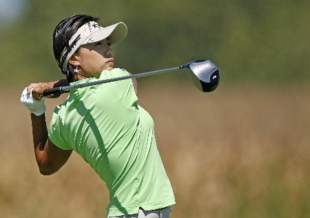 SPRINGFIELD, IL - AUGUST 31: Mi Hyun Kim of South Korea hits her tee shot on the 15th hole during the second round of the State Farm Classic at Panther Creek Country Club August 31, 2007 in Springfield, Illinois. (Photo by Hunter Martin/Getty Images)
