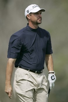 Cliff Kresge on the 4th hole during the 1st round of the Chitimacha Open being held at Le Triomphe Golf Club in Broussard, Louisiana on March 24, 2005.