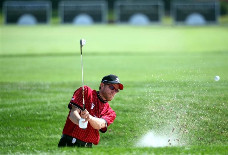 ORLANDO, FL - MARCH 16:  Nick O'Hern practices for the Tavistock Cup on March 16, 2009 at Lake Nona Country Club in Orlando, Florida.  (Photo by Marc Serota/Getty Images)