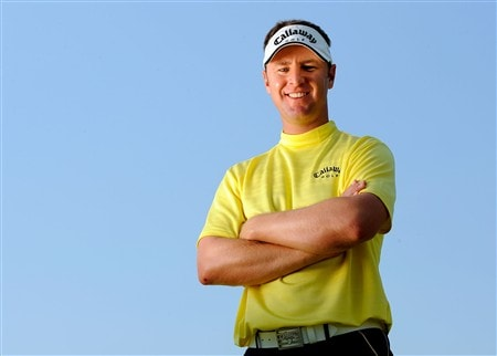 AKRON, OH - JULY 29:  Brendan Jones of Australia poses prior to the WGC-Bridgestone Invitational on the South Course at Firestone Country Club in Akron, Ohio, on July 29, 2008.  (Photo by Sam Greenwood/Getty Images)