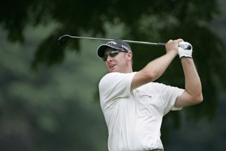Brendan Jones tees off on #2 in the fourth round the 2005 B.C. Open at En-Joi Golf Club in Endicott, New York. Sunday, July 17 2005.Photo by Chris Condon/PGA TOUR/WireImage.com