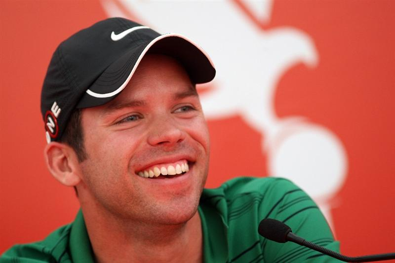 ABU DHABI, UNITED ARAB EMIRATES - JANUARY 13:   Paul Casey of England during his press conference prior to the Abu Dhabi Golf Championship at the Abu Dhabi Golf Club on January 13, 2009 in Abu Dhabi, United Arab Emirates.  (Photo by Ross Kinnaird/Getty Images)