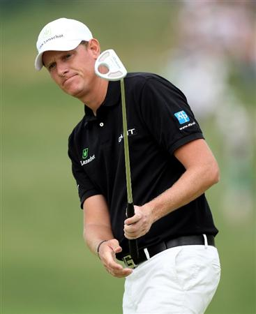 NEWPORT, WALES - JUNE 05:  Maarten Lafeber of The Netherlands during the third round of the Celtic Manor Wales Open on the 2010 Course at the Celtic Manor Resort on June 5, 2010 in Newport, Wales.  (Photo by Ross Kinnaird/Getty Images)