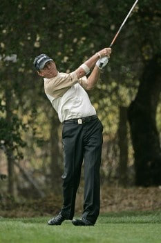 Dana Quigley tees off on #8 during the second round of the Charles Schwab Cup Championship - Friday October 28, 2005 at Sonoma Golf Club - Sonoma, California.Photo by Chris Condon/PGA TOUR/WireImage.com