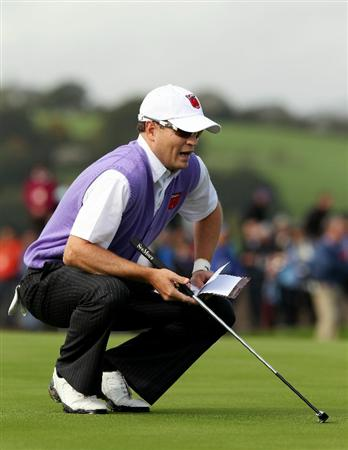 NEWPORT, WALES - OCTOBER 02:  Zach Johnson of USA waits on a green during the rescheduled Afternoon Foursome Matches during the 2010 Ryder Cup at the Celtic Manor Resort on October 2, 2010 in Newport, Wales.  (Photo by Ross Kinnaird/Getty Images)