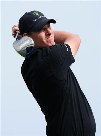 MADRID, SPAIN - MAY 27:  Maarten Lafeber of The Netherlands plays his tee shot on the 16th hole during the first round of the Madrid Masters at Real Sociedad Hipica Espanola Club De Campo on May 27, 2010 in Madrid, Spain.  (Photo by Stuart Franklin/Getty Images)