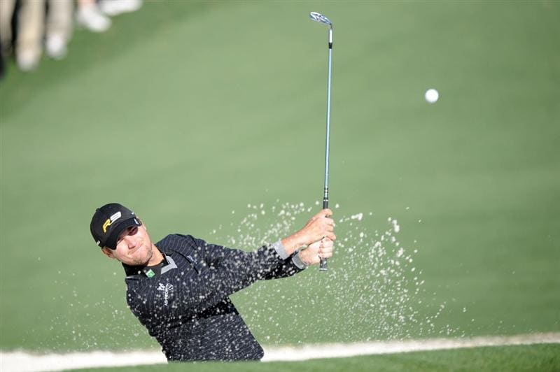 AUGUSTA, GA - APRIL 09:  Sean O'Hair plays a bunker shot on the second hole during the second round of the 2010 Masters Tournament at Augusta National Golf Club on April 9, 2010 in Augusta, Georgia.  (Photo by Harry How/Getty Images)
