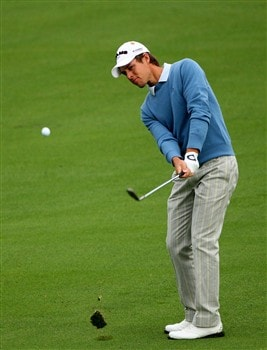 AUGUSTA, GA - APRIL 08:  Aaron Baddeley of Australia during the second day of practice prior to the start of the 2008 Masters Tournament at Augusta National Golf Club on April 8, 2008 in Augusta, Georgia.  (Photo by Andrew Redington/Getty Images)