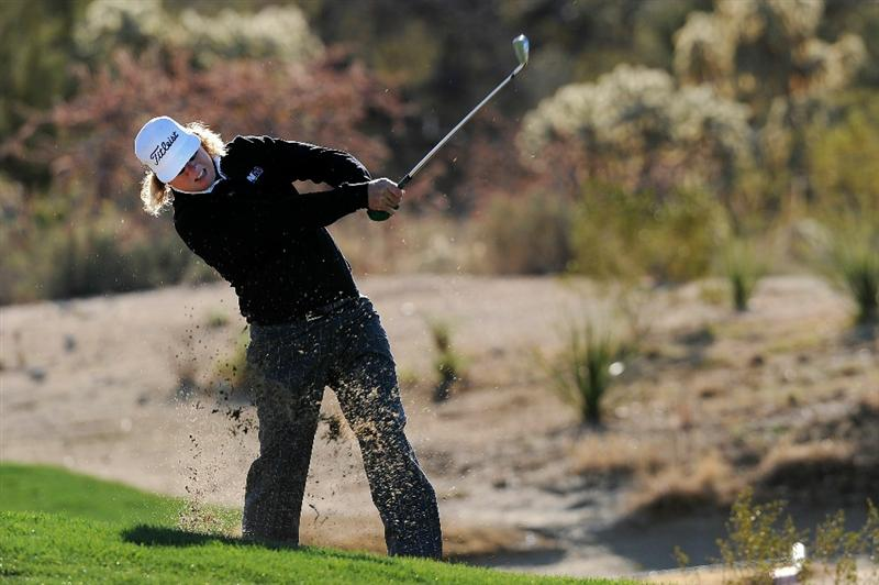 MARANA, AZ - FEBRUARY 23:  Charley Hoffman hits an approach shot on the second hole during the first round of the Accenture Match Play Championship at the Ritz-Carlton Golf Club on February 23, 2011 in Marana, Arizona.  (Photo by Stuart Franklin/Getty Images)