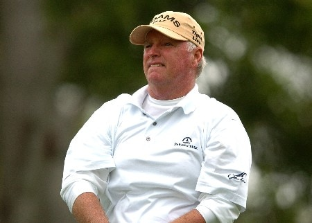 Tom Jenkins tees off on the third hole during the second round of the Champions' Tour 2005 Toshiba Senior Classic at the Newport Beach Country Club in Newport Beach, California March 19, 2005