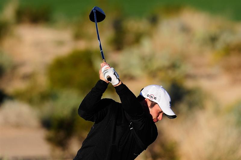 MARANA, AZ - FEBRUARY 16:  Paul Casey of England hits a shot during the second practice round prior to the start of the Accenture Match Play Championship at the Ritz-Carlton Golf Club on February 16, 2010 in Marana, Arizona.  (Photo by Stuart Franklin/Getty Images)