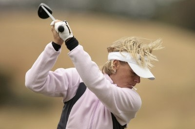 Sweden's Liselotte Neumann during Pro-Am day before the 2006 Weetabix Women's British Open at the Royal Lytham and St. Annes Golf Club in Lytham, Great Britain on August 2, 2006.Photo by Pete Fontaine/WireImage.com