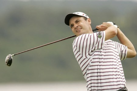 Simon Khan during the third round of the 2005 Barclays Scottish Open at the Loch Lomond Golf Club in Glasgow, Scotland on July 9, 2005.Photo by Pete Fontaine/WireImage.com