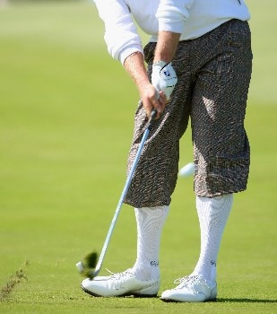 ZANDVOORT, NETHERLANDS - AUGUST 23:  The dapper trousers of Jamie Donaldson of Wales during third round of The KLM Open at Kennemer Golf & Country Club on August 23, 2008 in Zandvoort, Netherlands.  (Photo by Stuart Franklin/Getty Images)