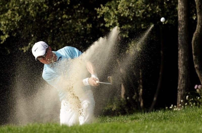 BARCELONA, SPAIN - MAY 05:  Simon Dyson of England during the first round of the Open de Espana at the the Real Club de Golf El Prat on May 5 , 2011 in Barcelona, Spain.  (Photo by Ross Kinnaird/Getty Images)