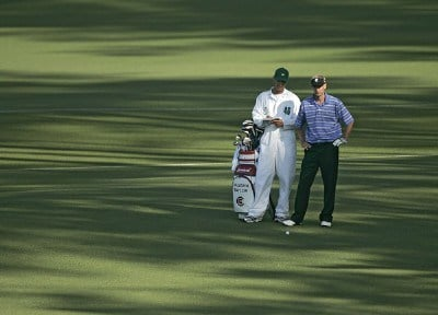 Vaughn Taylor on the second fairway during the first round of the 2006 Masters at the Augusta National Golf Club in Augusta, Georgia on April 6, 2006.Photo by Sam Greenwood/WireImage.com