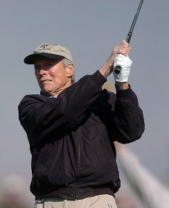 Clint Eastwood in action during the fourth round of the 2007 Bob Hope Chrysler Classic at Classic Club in Palm Desert, California on January 20, 2007. PGA TOUR - 2007 Bob Hope Chrysler Classic - Fourth RoundPhoto by Steve Grayson/WireImage.com