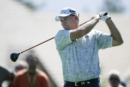 Duffy Waldorf in action during the third round at the Reno-Tahoe Open,  August 20,2005, held at Montreux GC, Reno, Nevada.Photo by Stan Badz/PGA TOUR/WireImage.com