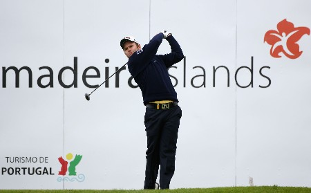 MADEIRA, PORTUGAL - MARCH 23:  Alastair Forsyth of Scotland plays a tee shot during the final round of the Madeira Islands Open BPI 2008 at Clube De Golf Santo Da Serra on March 23, 2008 in Madeira, Portugal.  (Photo by Ryan Pierse/Getty Images)