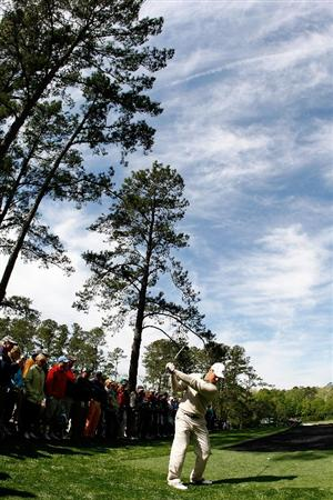 AUGUSTA, GA - APRIL 06:  Trevor Immelman of South Africa plays a shot during a practice round prior to the 2009 Masters Tournament at Augusta National Golf Club on April 6, 2009 in Augusta, Georgia.  (Photo by Harry How/Getty Images)