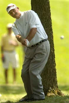 R.W. Eaks hits from the 13th fairway during the third round of the 2005 U.S. Senior Open Championship at NCR Country Club in Kettering, Ohio July 30, 2005.Photo by Steve Grayson/WireImage.com