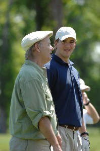 Eli Manning and Bill Murray during the 2007 Zurich Classic of New Orleans, Pro-Am, at TPC Lousiana, Avondale, Lousiana on April 18, 2007. Photo by Marc Feldman/WireImage.com