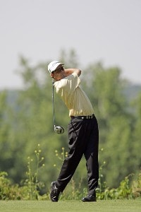 Stephen Leaney during the fourth round of the Cialis Western Open on the No. 4 Dubsdread course at Cog Hill Golf and Country Club in Lemont, Illinois on July 9, 2006.Photo by Michael Cohen/WireImage.com