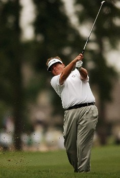 Tim Herron hits his approach shot from the second fairway during the second round of the 2005 Shell Houston Open, at the Redstone Golf Club in Houston, Texas April 22, 2005.Photo by Steve Grayson/WireImage.com