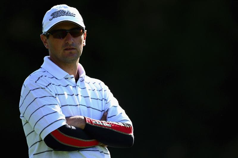 CRANS, SWITZERLAND - SEPTEMBER 05:  Juan Abbate of Argentina waits to play his second shot on the tenth hole during the second round of the Omega European Masters at Crans-Sur-Sierre Golf Club on September 5, 2008 in Crans Montana, Switzerland.  (Photo by Andrew Redington/Getty Images)