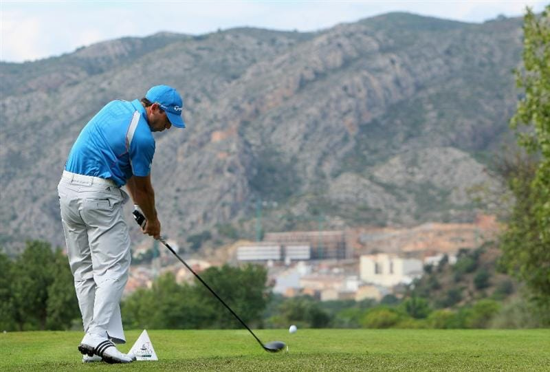 CASTELLO, SPAIN - OCTOBER 25:  Sergio Garcia of Spain plays his tee shot on the 13th hole during the third round of the Castello Masters Costa Azahar at the Club de Campo del Mediterraneo on October 25, 2008 in Castello, Spain.  (Photo by Stuart Franklin/Getty Images)