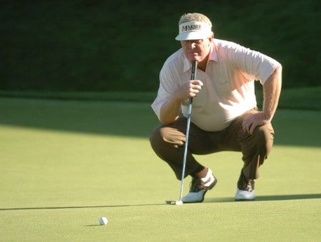 Andy Bean in action on the 18th green during the first round of the 2005 Boeing Greater Seattle Classic at TPC Snoqualmie in Snoqualmie, Washington August 19, 2005.Photo by Steve Grayson/WireImage.com