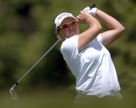 Karen Stupples in action during the final round of the 2005 U.S. Women's Open at Cherry Hills Country Club in Englewood, Colorado, June 26, 2005.Photo by Steve Grayson/WireImage.com